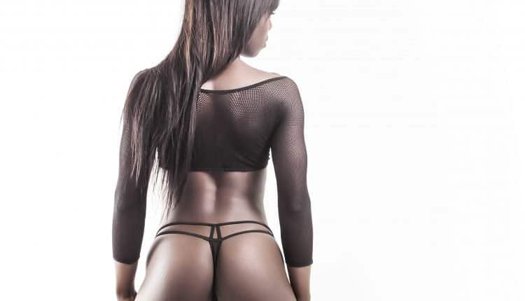 Beautiful african model back and butt