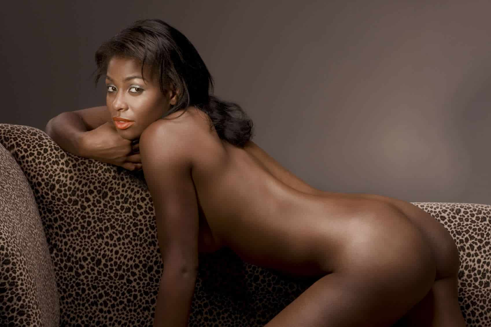 Ethnic naked seductive woman in sensual hot pose
