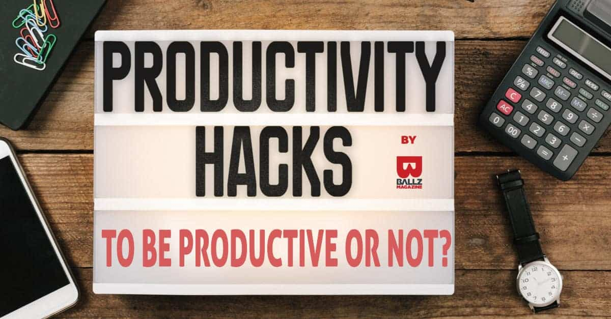 being productive means healthy and happy life